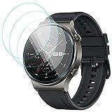 CAVN 4-Stücke Kompatibel mit Huawei Watch GT 2 Pro Schutzfolie Panzerglas, (Nicht für GT 2 /GT 2e) Wasserdichtes gehärtetes Glas Anti-Scratch Anti-Bubble Bildschirmschutzfolie Schutz für Huawei GT2 Pro
