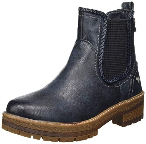MUSTANG Damen 1344-601-820 Chelsea Boots, Blau (Navy 820), 38 EU