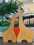 Wooden Puzzle Giraffe -Giraffe Figurine -Wooden Giraffes Family -Animal Puzzle- Giraffe Home Decor - for Easter - Giraffe's Statue-Toy Educational - Wood Giraffe