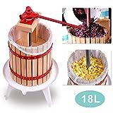 wolketon Pressoir à Fruits 18L Pressoir à Baies Fruit Presse-Fruits jus Presse mécanique de Vin ou la Fabrication de Jus de Fruits