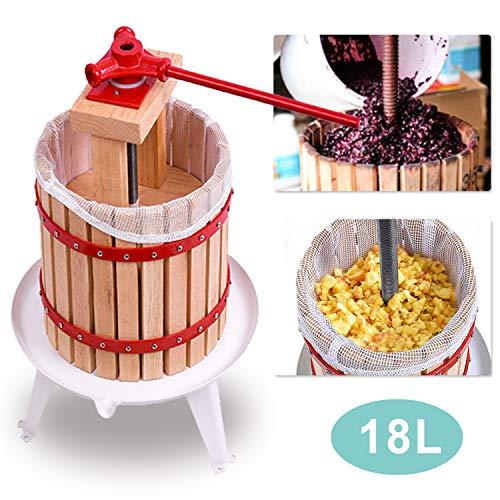wolketon Obstpresse Saft 18L Entsafter Maischepresse Presse Frucht Obstpressen Filternetz Juicer Presstuch