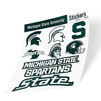 Michigan State University Spartans MSU Go Green Sticker Vinyl Decal Laptop Water Bottle Car Scrapbook  Type 2 Sheet C