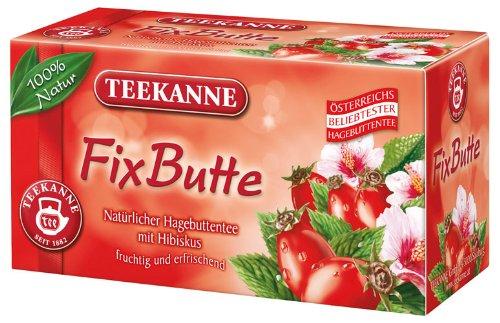 Teekanne FixButte, natürlicher Hagebuttentee mit Hibiskus - 20St.