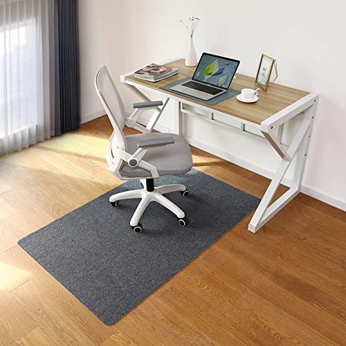 Office Chair Mat, 55 x35  Desk Chair Mat for Home Office Hardwood Floor, Upgraded Version - Computer Gaming Rolling Chair Mat, Multi-Purpose Low-Pile Floor Protector(Dark Gray)
