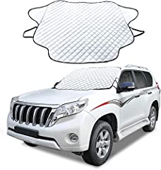KEEP YOURSELF COOL: Our windshield sun shade protects you from the sun's heat and harmful UV radiation rays. Keeping you cooler and happier when you step back into your car. PROTECT YOUR CAR: High quality and durable sun blocker screen protector to m...