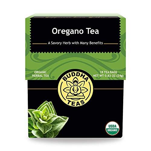 Organic Oregano Tea - Kosher, Caffeine Free, GMO-Free - 18 Bleach Free Tea Bags