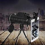 MWKL Monokulares Teleskop, 40x60 Hochleistungs-Kompaktmonokular für Erwachsene Kinder, mit BAK4 Prisma FMC für Vogelbeobachtung Camping Wandern