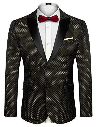 KissTies Mens Black Tie Set: Paisley Necktie + Pocket Square
