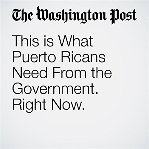 This is What Puerto Ricans Need From the Government. Right Now. copertina