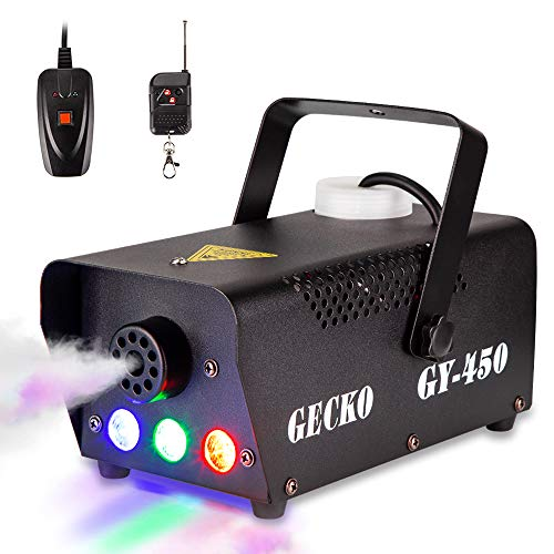 Fog Machine GECKO Smoke Machine Hood Portable LED Light With Wired and Wireless...