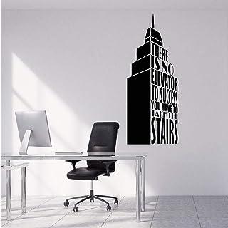 Bâtiment Vinyle Wall Sticker Citation Succès Amovible Decal Bureau D'affaires Salon Salon Décoration Art Affiche 42 * 102 cm