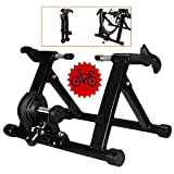 FHUILI Magnetic Bicycle Trainer - Bicycle Turbo Trainer - Bike Trainer Stand Indoor Training Turbo Trainer MTB Road Cycling Roller Bicycle Stationary Exercise Station Magnetic Resistance,A