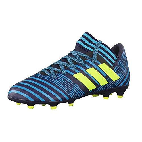 adidas Jungen Nemeziz 17.3 Fg J Fußballschuhe, Weiß, Mehrfarbig (Legend Ink /solar Yellow/energy Blue ), 38 2/3 EU