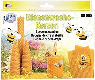 Artidee CREARTEC - Bienenwachs Kerzen Set - perfektes Set zum Herstellen von Bienenwachs Kerzen - für die Kerzenherstellung - Made in Germany