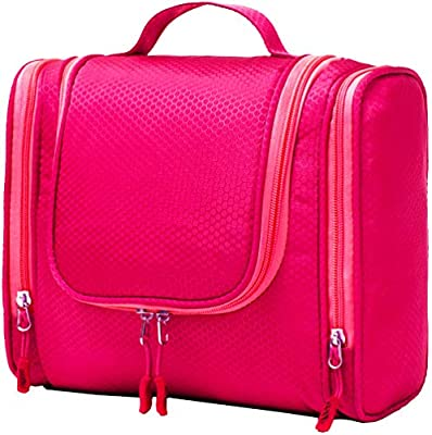 Bago Hanging Toiletry Bag For Women & Men - Leak Proof Travel Bags for Toiletries with Hanging Hook & Inner Organization to Keep Items From Moving - Pack Like a PRO (Pink) from