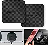 Plaque Aimant Telephone Voiture Compatible Wireless Charging, 2 Pack plaque aimantée adhésive for Phone, pour Support Telephone Voiture magnetique, Aimant Autocollant with Strong 3m Adhesive