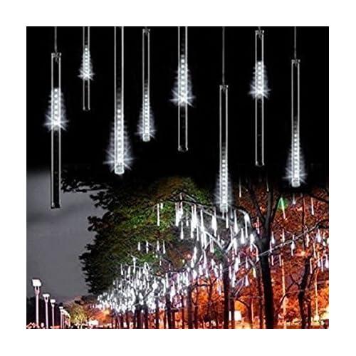 AveyLum LED Falling Rain Lights with 30cm 8 Tube 144 LEDs, Meteor Shower Light,