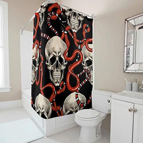 Toomjie Duschvorhang mit Haken wasserdichtes Gewebe Maschinenwaschbar Duschvorhang für Familien und Hotels White 200x200cm