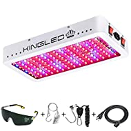 King Plus 1500W Double Chips LED Grow Light Full Spectrum for Greenhouse and Indoor Plant Flowering Growing (10w LEDs)
