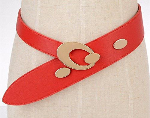 SAIBANGZI Ceintures de Femmes Mesdames Mode Grande Taille Robe Waistb Seal Body Shaping Design Cuir Rouge One-Size de qualité