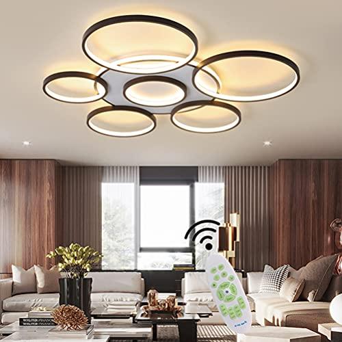 Plafonnier LED à 7 ring design ronde,plafonnier cuisine Gradable 3000 - 6500K, plafonnier moderne 106W pour salons, chambre à coucher, couloir de cuisine et chambre à coucher