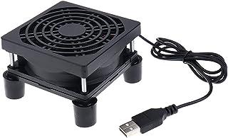 Router Cooling Fan Frame TV Set-top Box Cooling Frame Modem Router Cooling Fan Modem USB Cooling Fan (Black)