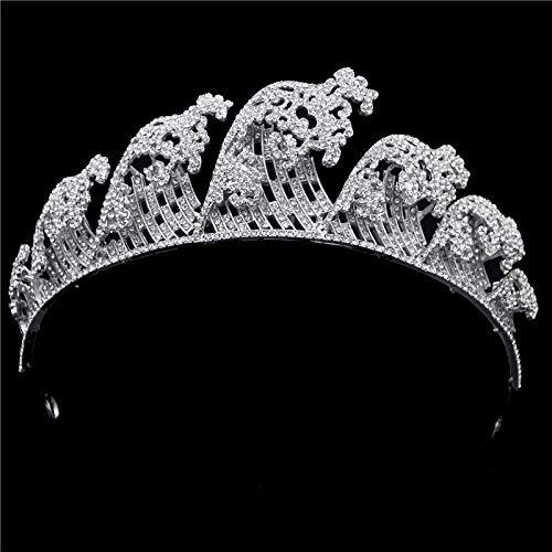 Alberta Arnés y Diamantes de imitación Diadema Corona del árbol de la Reina de Nuevo diseño for los Accesorios del Pelo de la Boda de Las Mujeres