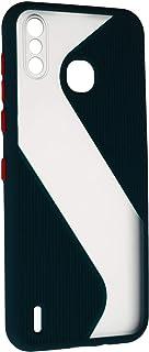 جراب خلفى قوى رفيع بتصميم مموج مع واقى للكاميرا لانفنيكس سمارت 4 X653 - اخضر شفاف
