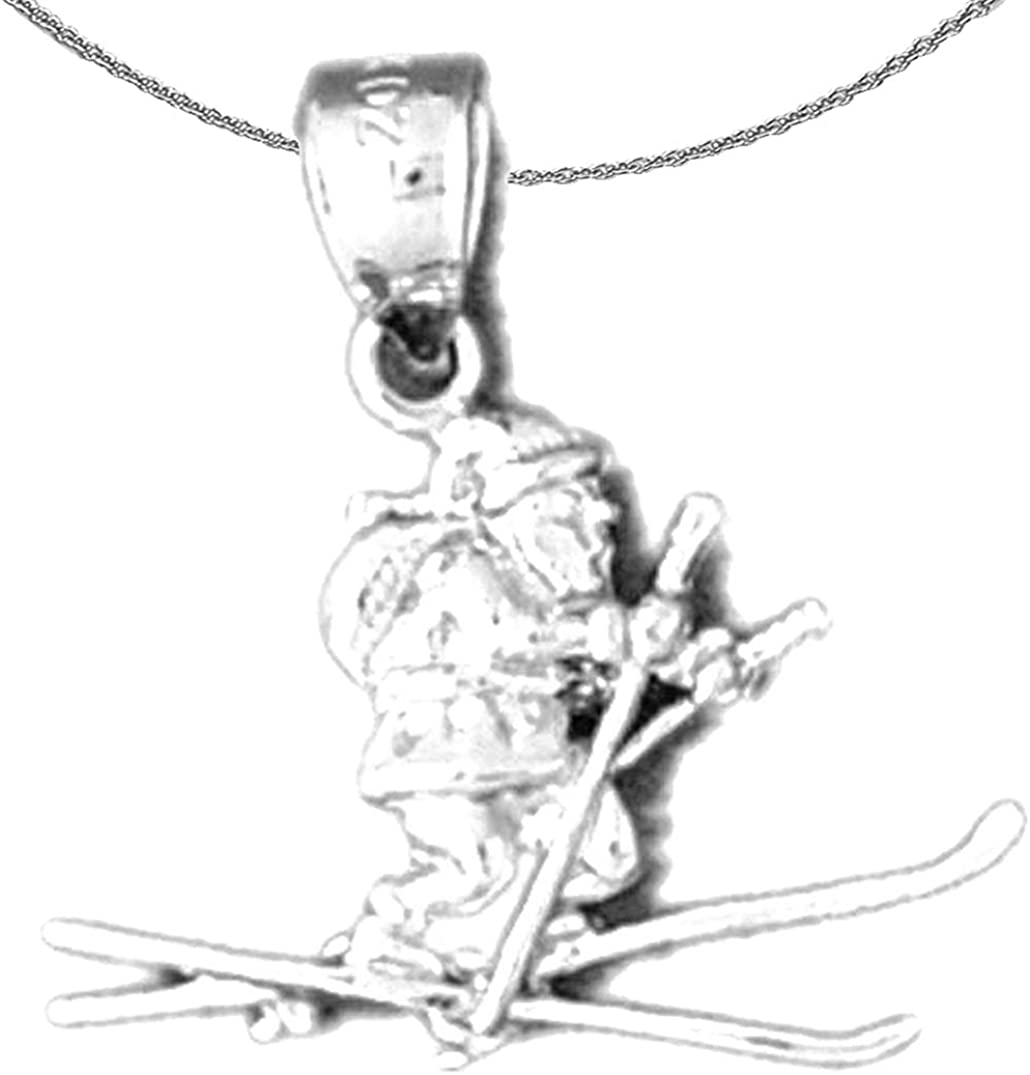 Jewels Obsession Gold 3-D Santa Outlet 2021 new sale feature White 14K Necklace Skiing