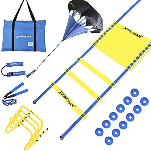JOGENMAX Speed Agility Training Set Includes Resistance Parachute Agility Ladder 4 Adjustable product image