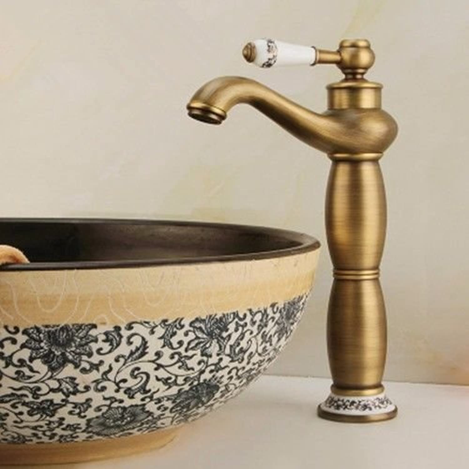 NewBorn Faucet Water Taps Hot And Cold Water The Copper Hot And Cold bluee Enamel Antique Waterfall Basin Bathroom Water Tap Kitchen Hotel
