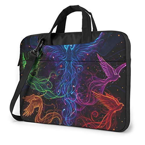 Sky Full of Colorful Phoenix Laptop Bag Shockproof Briefcase Tablet Carry Handbag for Business Trip Office 13 inch