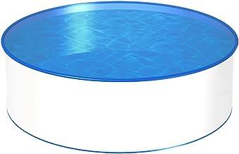 POWERHAUS24 MTH Schwimmbecken, rund, 3,00m, 0,6mm Stahlwand, Folie mit Keilbiese-1,20m
