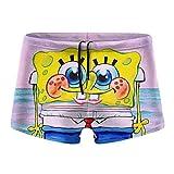 Men's Beach Swimming Trunks Boxer Brief Swimsuit - Spongebob is...