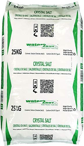 Water2buy Salzkristalle 25 kg- Regeneriersalzkristalle für wasserenthärtungsanlagen