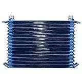 Condensador de aire acondicionado automático, Akozon modificación del condensador de aire acondicionado de aceite universal para vehículos Condensador de aleación de aluminio (azul)(7 rows)