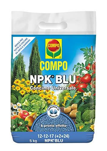 COMPO NPK BLU, Concime Universale Granulare Per Orto E Giardino, A Pronto Effetto, Confezione da 5 Kg,