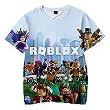 MOHKJMML Roblox Camiseta Camiseta con Estampado de Dibujos Animados Tops Transpirables Ocasionales Tamaños múltiples Unisex (Color : A01, Size : S)