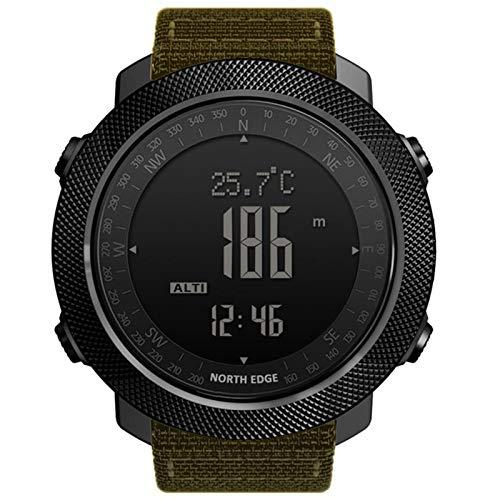 Reloj Digital De Deportes Al Aire Libre De Los Hombres Reloj Inteligente Multifunción Nadando Altímetro Barómetro Compás Ip68 Impermeable 50M,F