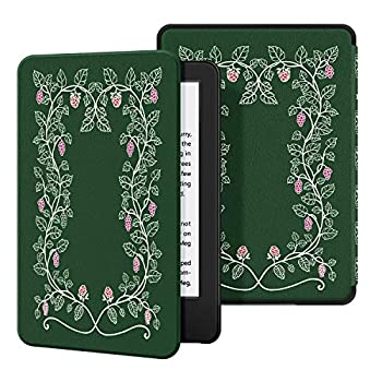 Ayotu Slim Case for All-New Kindle 10th Gen 2019 Release  - PU Leather Cover with Auto Wake/Sleep-Fits Amazon All-New Kindle 2019 Will not fit Kindle Paperwhite or Kindle Oasis ,The Flowers