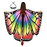 GENIEING Butterfly Wings for Women, Womens Easy Party Butterfly Costume, Fairy Shawl Dress Christmas Costume Dress