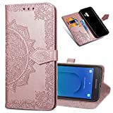 MRSTER Samsung J2 Core Leather Case, Slim Premium PU Flip
