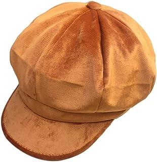 0f6f5b78e74 Women Girl Newsboy Cabbie Berets Cap Velvet Winter Warm Ivy Gatsby Cap  Outdoor Sun Hats Ins