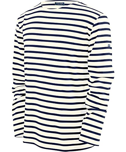 Saint James MINQUIERS- Streifenshirt - Bretagne-Shirts (M, Ecru Marine)