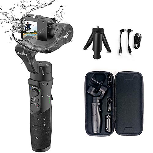 Gimbal Stabilizer for GoPro, 3-Axis Handheld Gimbal Stabilizer for Action Camera, GoPro Hero 7/6/5/4/3 DJI Osmo Action, Sony RX0, Yi Cam 4K, AEE,...