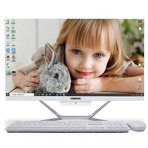 Ordenador All In One WEIDIAN PC All in One, Win10,Intel Core i7-6500U,23.8 Pulgadas,DDR4 16GB RAM,512GB SSD+1TB HDD, Todo en uno Computadoras,HDMI,VGA,WiFi,Bluetooth Teclado Mouse & inalámbricos