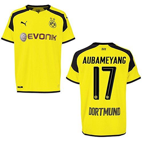 Puma BVB Borussia Dortmund Trikot 3rd Kinder 2016/2017 - AUBAMEYANG 17, Größe:176