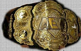 Regalia Craft Replica AEW World Championship Wrestling Leather Belt, 2mm Plates