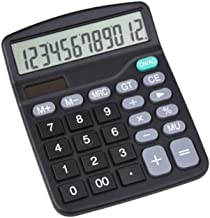 $23 » ZZL Multifunction Large Screen 12 Digital Display Calculator Dual Power Supply Solar Portable Office Small Calculator Dura...