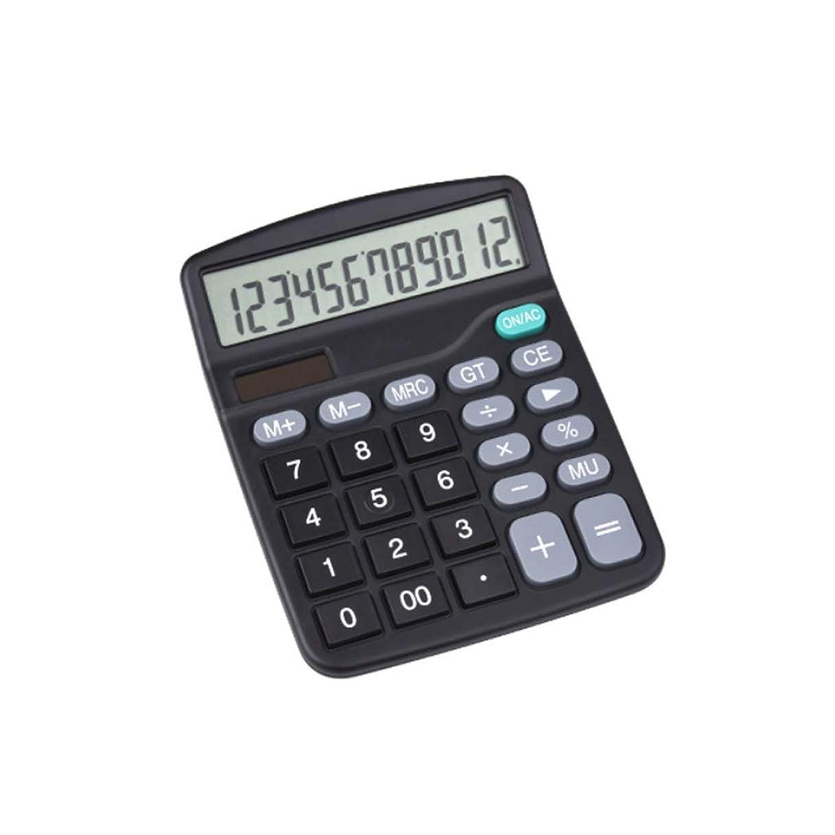 鷹株式会社勤勉大画面12デジタルディスプレイ電卓デュアル電源ソーラーポータブルオフィス小さな電卓耐久性